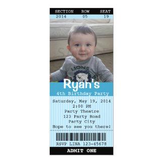 (De Blauwe) Uitnodiging van het kaartje met Foto -