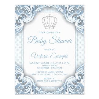 De blauwe Uitnodigingen van het Baby shower van de