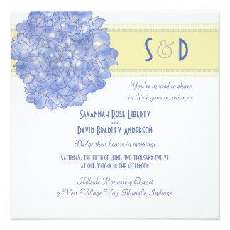 De blauwe Uitnodigingen van het Huwelijk van de