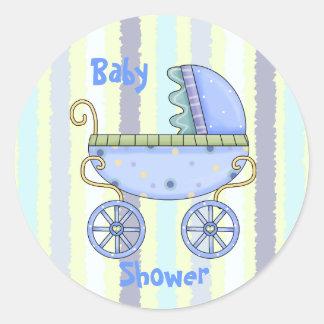 De blauwe Verbinding van de Envelop van de Douche Ronde Stickers