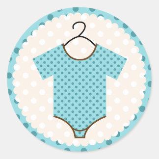 De blauwe Verbindingen van het Baby shower van het Ronde Stickers