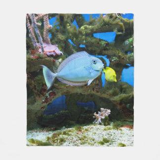 De Blauwe Vissen van het zee Fleece Deken