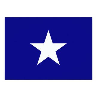 De Blauwe Vlag van Bonnie met de Eenzame Witte 12,7x17,8 Uitnodiging Kaart