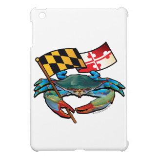 De blauwe vlag van Maryland van de Krab iPad Mini Covers