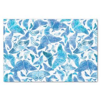 De Blauwe Vlinders van de Winter van Flutterby Tissuepapier