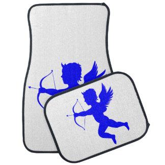 De blauwe Vloermatten van de Auto van de Engel van