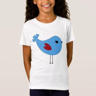 De blauwe Vogel van Valentijn T Shirt