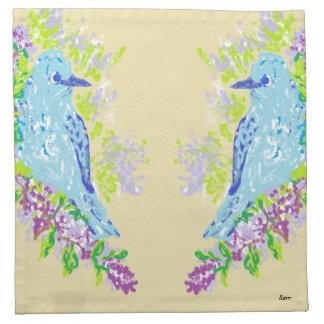 De Blauwe Vogels van de Servetten van de doek