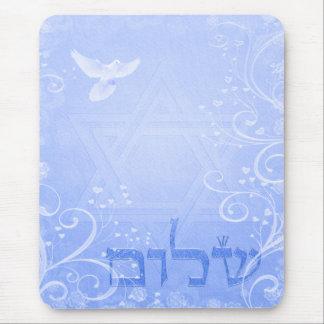 De Blauwe Werveling Mousepad van de Duif van Muismat