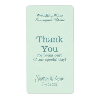 De blauwe Wijn van het Huwelijk van Tonen dankt u Etiket