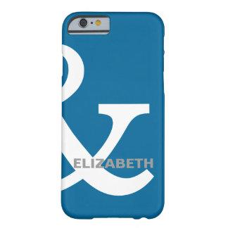 De blauwe Witte Minnaars Ampersand noemt net Barely There iPhone 6 Hoesje