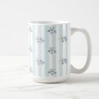 De blauwe & Witte Mok van de Koffie van Kerstmis