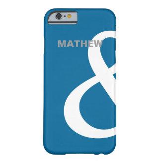 De blauwe Witte Namen die van Minnaars Ampersand Barely There iPhone 6 Hoesje