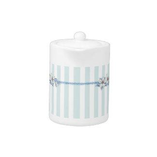 De blauwe & Witte Pot van de Thee van Kerstmis