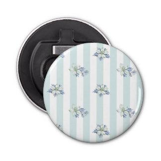De blauwe & Witte Ronde Flesopener van Kerstmis Button Flessenopener