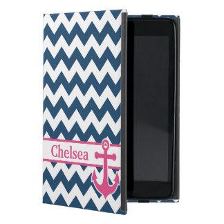 De blauwe Witte Roze Naam van het Anker van de Che iPad Mini Hoesje