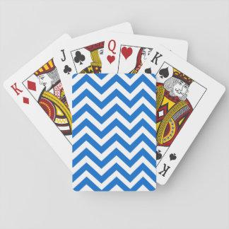 De blauwe Witte Speelkaart van het Patroon van de Pokerkaarten