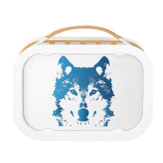De Blauwe Wolf van het Ijs van de illustratie Lunchbox