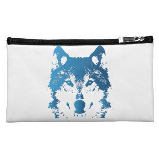 De Blauwe Wolf van het Ijs van de illustratie Make-up Tasje
