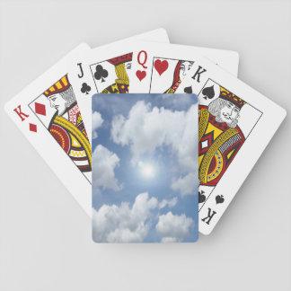 De blauwe Wolken van de Hemel + uw ideeën Pokerkaarten