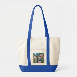 De blauwe zak van het Bolsa van Vlaamse gaaien Draagtas