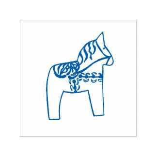 De blauwe Zelf Inktende Zegel van het Paard Dala Zelfinktende Stempel