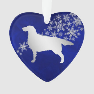 De blauwe Zilveren Hond van de Zetter van de Ornament