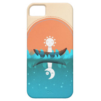 De blauwe Zomer Barely There iPhone 5 Hoesje