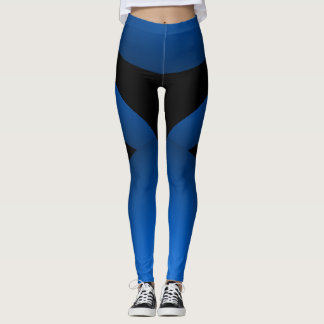 De blauwe Zwarte Sportieve Elegante Sporten van Leggings