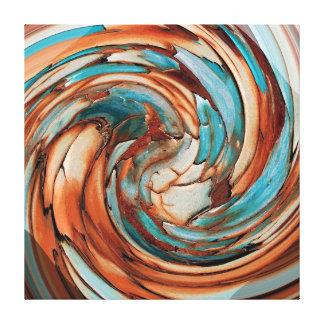 De Blauwgroen Abstracte Dolfijn van de roest N ver Canvas Afdrukken