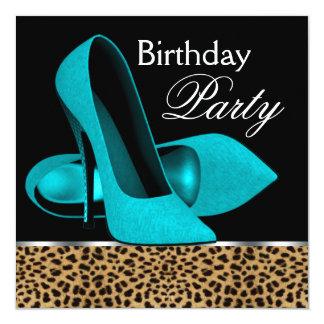 De blauwgroen Blauwe Partij van de Verjaardag van Kaart
