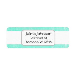 De blauwgroen en witte Sticker van het Adres van