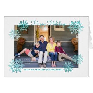De blauwgroen Flikkerende Elegante Foto van de Briefkaarten 0