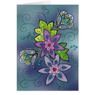 De blauwgroen Kaart van Tulpen (spatie)
