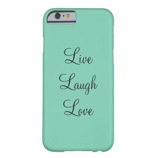 De blauwgroen Levende Dekking van de Telefoon van Barely There iPhone 6 Hoesje