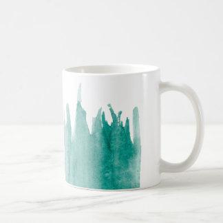 De blauwgroen Mok van de Koffie van de Verf