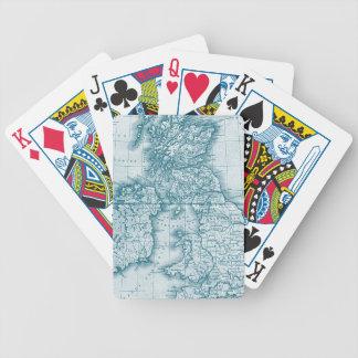 De blauwgroen Oude Speelkaarten van de Douane van  Pak Kaarten