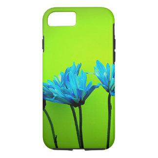 De blauwgroen Turkooise Madeliefjes kalken Groene iPhone 7 Hoesje