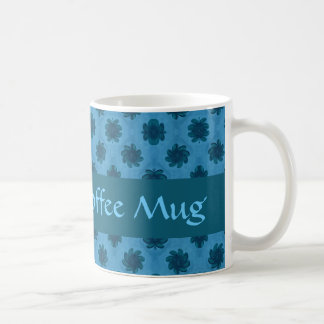 De blauwgroen turkooise sjabloon van het koffiemok