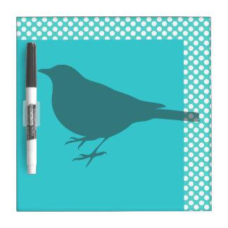 De blauwgroen Vogel Droge Silhoutte wist Raad Dry Erase Whiteboard