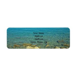 De Blauwgroene Wateren van de Bermudas Etiket