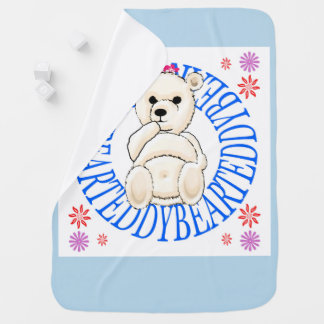 De bleke Witte Teddybeer werpt Deken Inbakerdoek