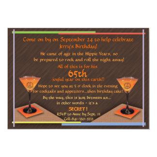 De blije 65ste Uitnodiging van de Verjaardag