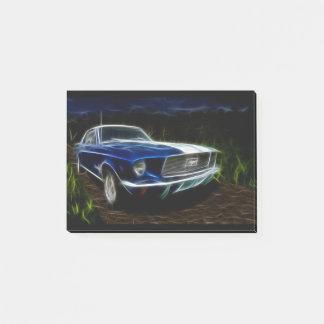 De bliksem van de auto post-it® notes