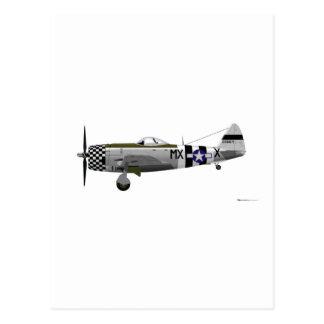 De Blikseminslag van de republiek p-47D Briefkaart