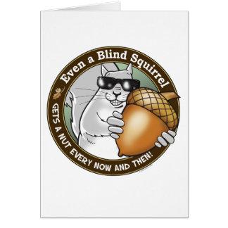 De blinde Noot van de Eekhoorn Kaart