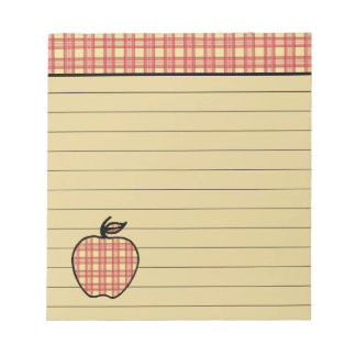 De Blocnote van Apple van de plaid