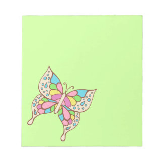 De Blocnote van de Vlinder van de regenboog