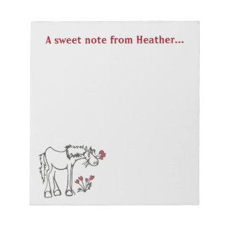 De Blocnote van het Paard van Valentijn van de