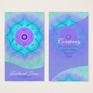 De Bloei Turkooise Mandala ID129 van Lotus Visitekaartjes